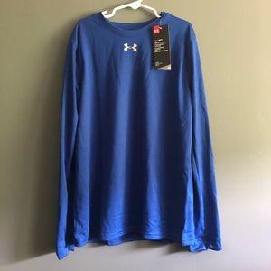 Under Armour Long Sleeve Blue Heat Gear Size-M NWT